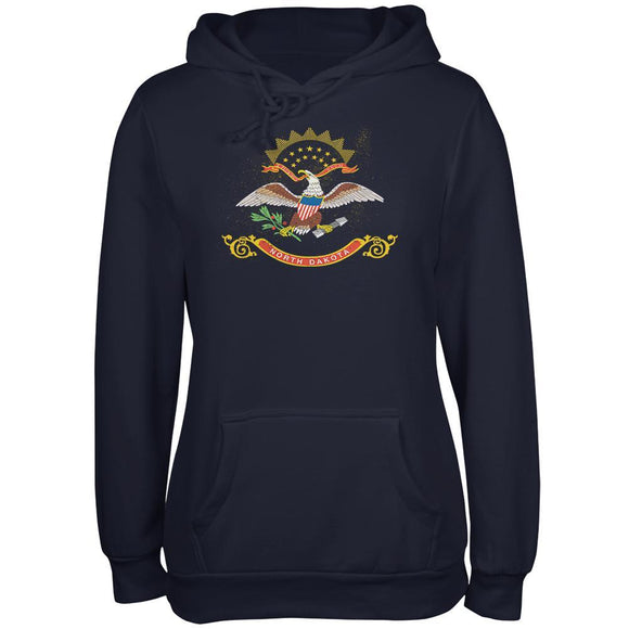Born and Raised North Dakota State Flag Juniors Soft Hoodie