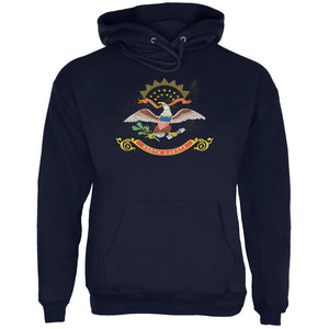 Born and Raised North Dakota State Flag Mens Hoodie