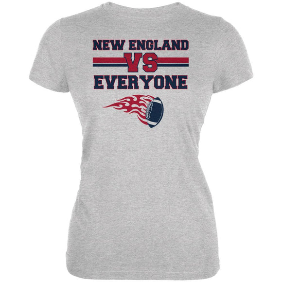 New England Versus Everyone Football Juniors Soft T Shirt