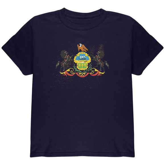 Born and Raised Pennsylvania State Flag Youth T Shirt