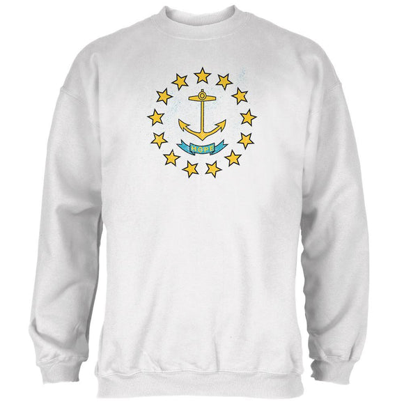 Born and Raised Rhode Island State Flag Mens Sweatshirt