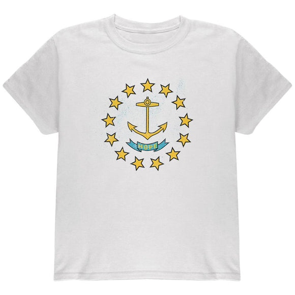 Born and Raised Rhode Island State Flag Youth T Shirt