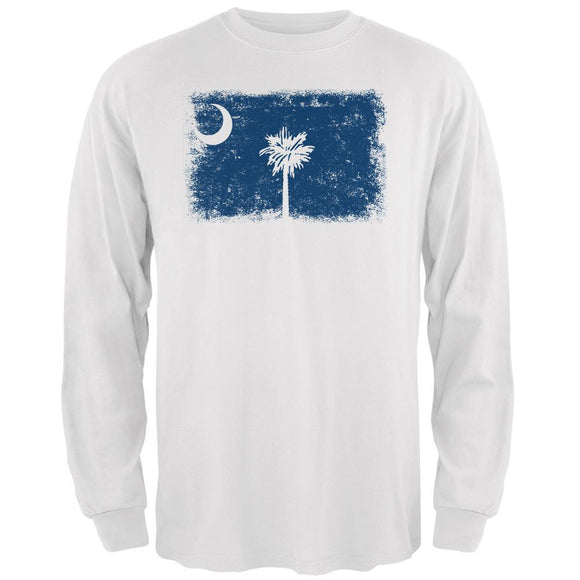 Born and Raised South Carolina State Flag Mens Long Sleeve T Shirt