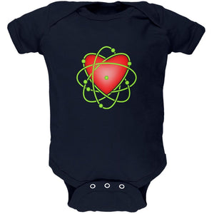 I Love Science Atomic Heart Soft Baby One Piece