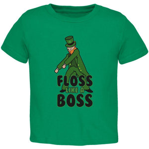 St. Patrick's Day Flossing Leprechaun Toddler T Shirt