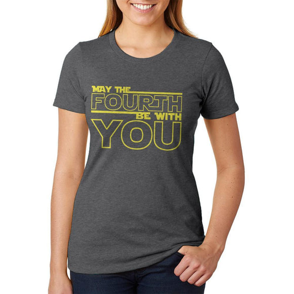 May The Fourth Be With You Womens Soft Heather T Shirt