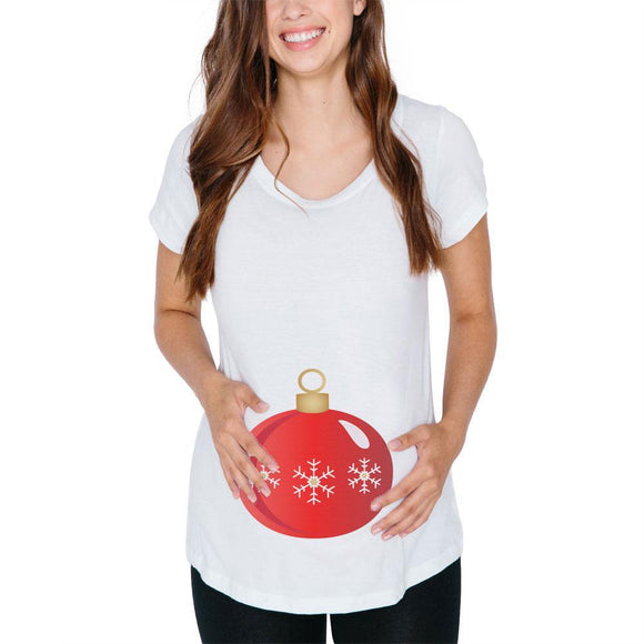 Christmas Ornament Costume Maternity Soft T Shirt