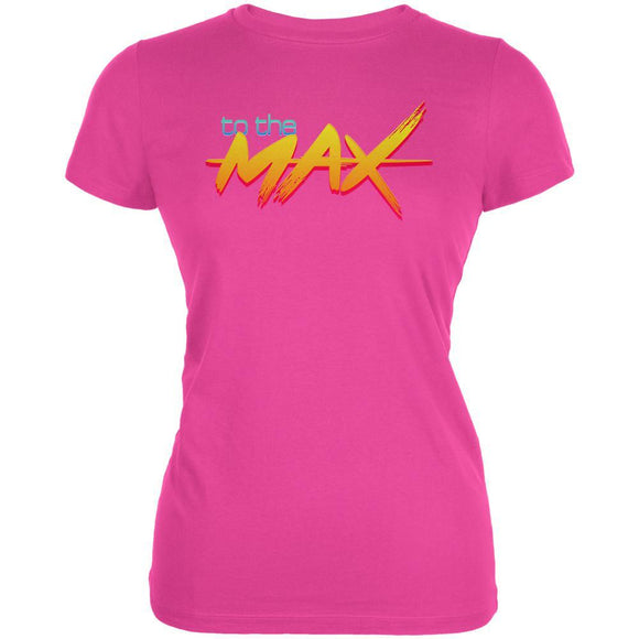 80's Flashback To The Max Juniors Soft T Shirt