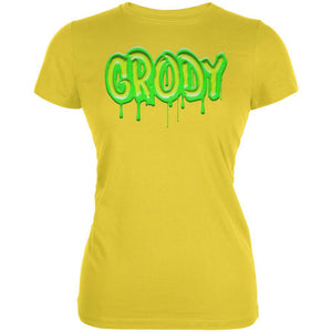 80's Retro Flashback Grody Slime Juniors Soft T Shirt