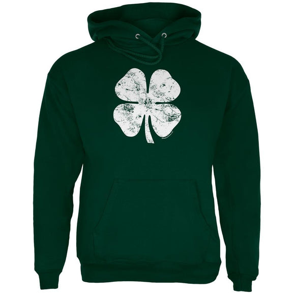 St. Patricks Day Distressed Shamrock Mens Hoodie