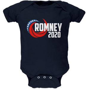 Presidential Election 2020 Mitt Romney Swoosh Soft Baby One Piece