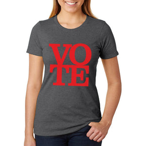 Election Vote Stacked Womens Soft Heather T Shirt