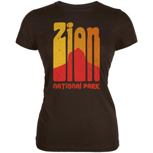 National Park Retro 70s Color Bars Zion Juniors Soft T Shirt