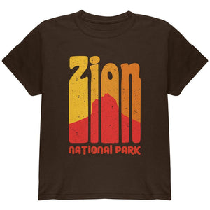 National Park Retro 70s Color Bars Zion Youth T Shirt
