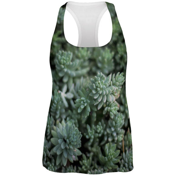 Halloween Succulent Bush Costume Nature Plants All Over Womens Work Out Tank Top