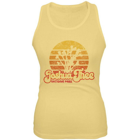 National Park Retro 70s Sunset Joshua Tree Juniors Soft Tank Top