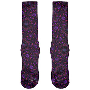 EDM Yogi Trippy Purple Mandala All Over Soft Socks