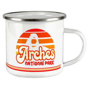 National Park Retro 70s Sunset Arches Camp Cup