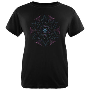 EDM Gloving Abstract Mandala Womens Organic T Shirt