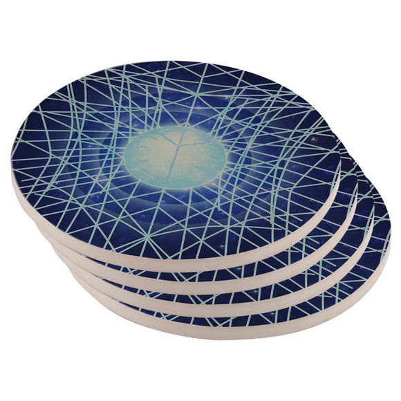 Gravity of a Black Hole Singularity Set of 4 Round Sandstone Coasters