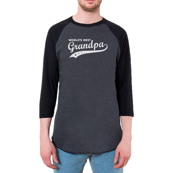 Father's Day World's Best Grandpa Mens Raglan T Shirt