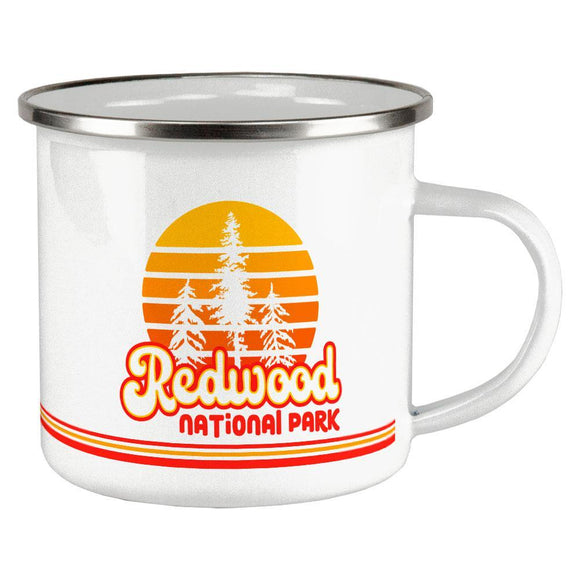 National Park Retro 70s Sunset Redwood Camp Cup