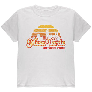 National Park Retro 70s Sunset Mesa Verde Youth T Shirt