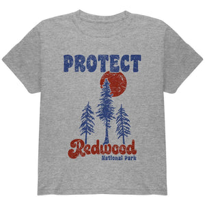 National Park Retro 70s Landscape Protect Redwood Youth T Shirt