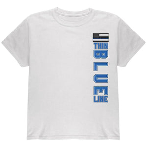 Blue Lives Matter Thin Blue Line American Flag Youth T Shirt