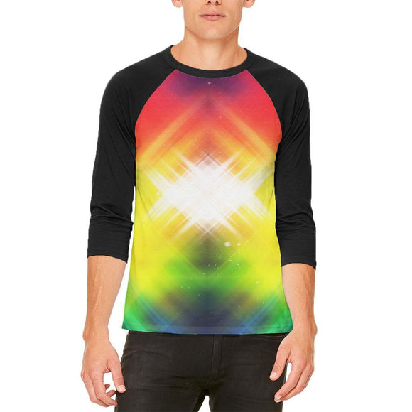 Galaxy Nova 70s Flashback Mens Raglan T Shirt