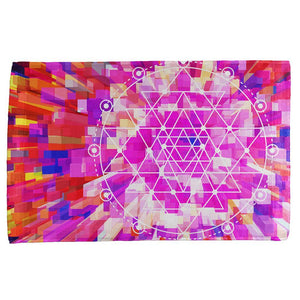 Sri Yantra Sacred Geometry All Over Hand Towel