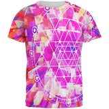 Sri Yantra Sacred Geometry All Over Mens T Shirt