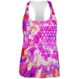 Sri Yantra Sacred Geometry All Over Womens Work Out Tank Top