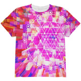 Sri Yantra Sacred Geometry All Over Youth T Shirt