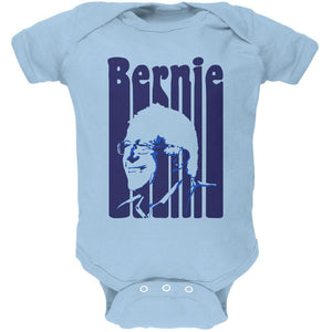 Election 2020 Retro 70s Color Bars Bernie Sanders Soft Baby One Piece