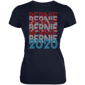 Election 2020 Bernie Sanders Vintage Style Overlap Juniors Soft T Shirt
