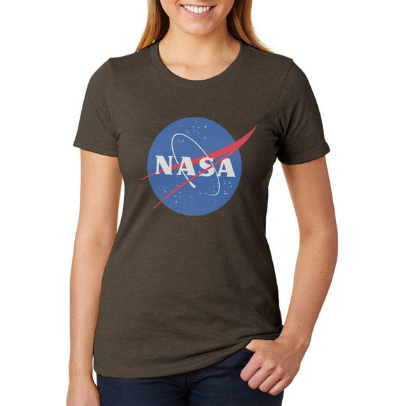 NASA Logo Juniors Soft Heather T Shirt