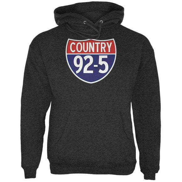 iHeartRadio Country 92-5 Logo Mens Hoodie Charcoal