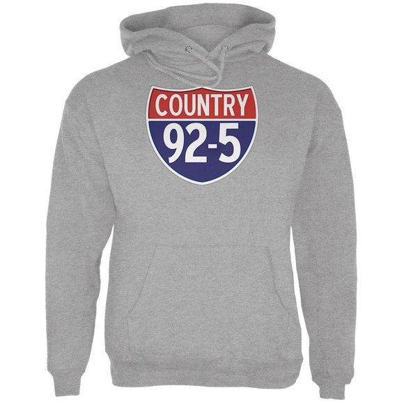 iHeartRadio Country 92-5 Logo Mens Hoodie Heather
