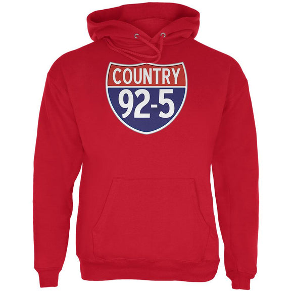 iHeartRadio Country 92-5 Logo Mens Hoodie Red