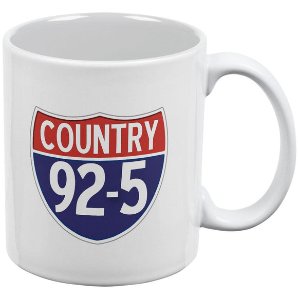 iHeartRadio Country 92-5 Logo All Over Coffee Mug White Standard One Size
