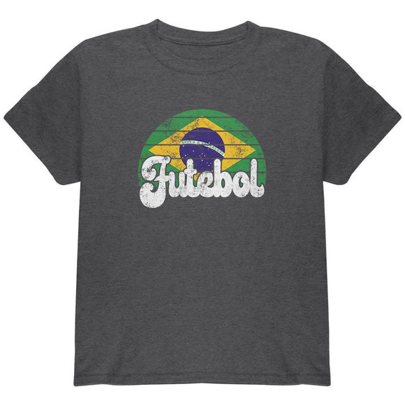 World Cup Brazil Futebol Football Soccer Youth T Shirt