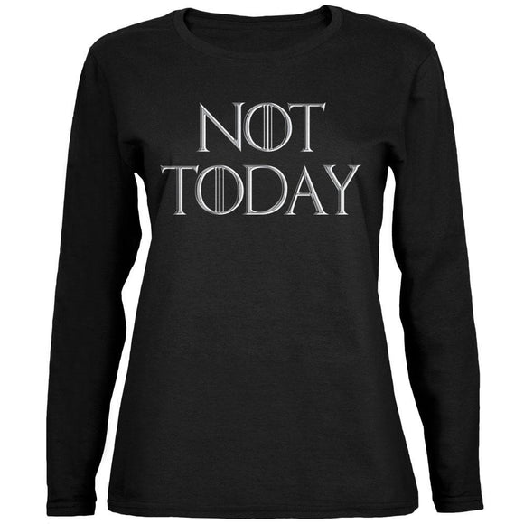 Not Today Procrastinate Death Ladies' Relaxed Jersey Long-Sleeve Tee