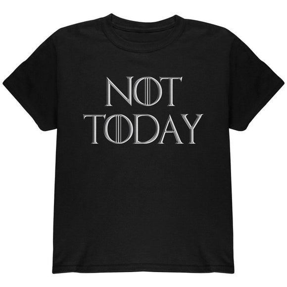 Not Today Procrastinate Death Youth T Shirt
