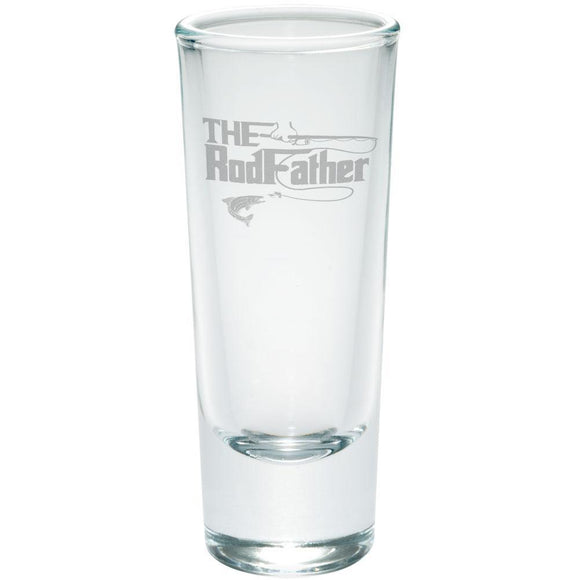 Father's Day Rod Father Fishing Etched Shot Glass Shooter