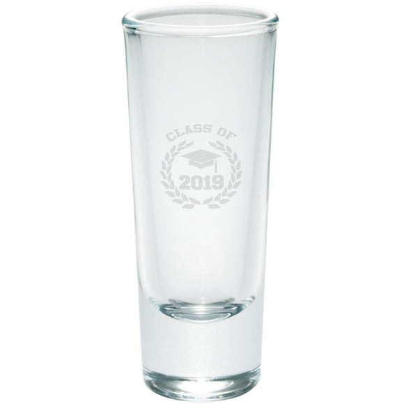Graduation - Class of 2019 Laurel Etched Shot Glass Shooter