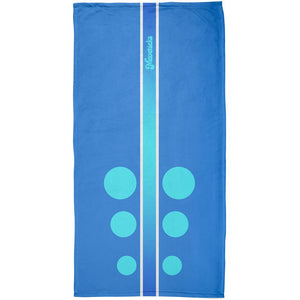 Mavericks California Surf Board All Over Beach Towel