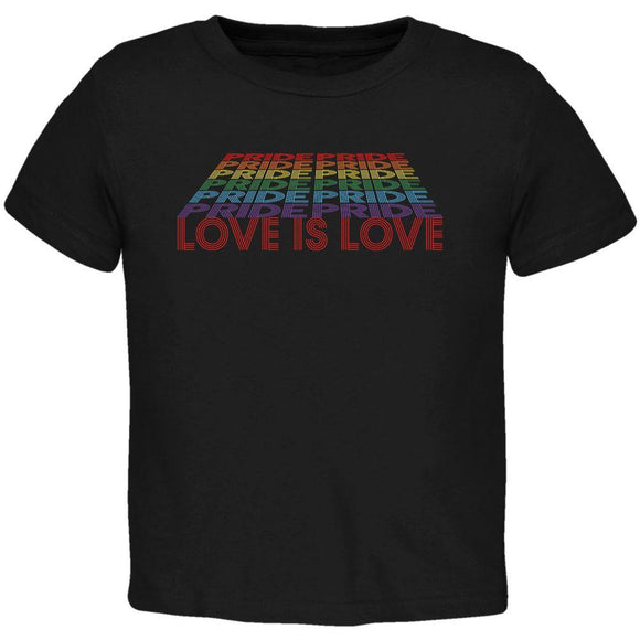 LGBTQ Pride Rainbow Love is Love Toddler T Shirt