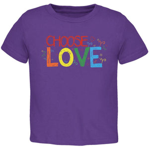 LGBTQ Choose Love Toddler T Shirt
