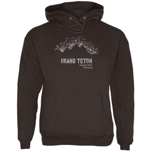 National Parks Grand Teton Mountain Splatter Mens Hoodie